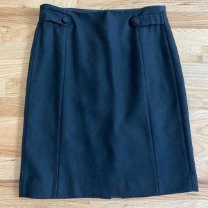 J. Crew black wool pencil skirt - used size 4